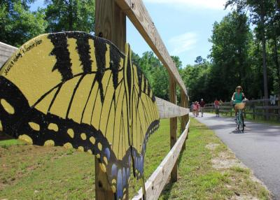 Enjoy artwork from local students along the Clayton River Walk in Clayton NC.