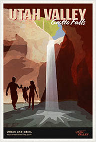 Grotto Falls Travel Poster