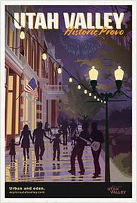 Historic Provo Travel Poster