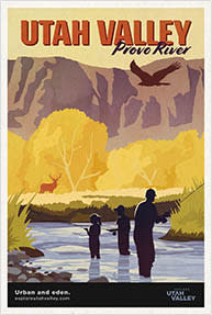 Provo River Travel Poster