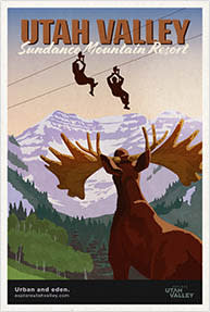 Sundance Mountain Resort Travel Poster