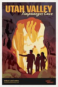 Timpanogos Cave Travel Poster