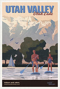 Utah Lake Travel Poster