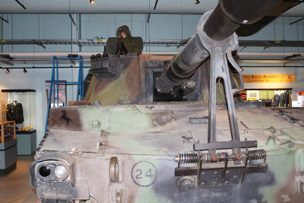M109 Howitzer tank on display at Royal Canadian Artillery Museum on CFB Shilo, Manitoba