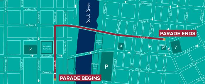 2019 SOS parade route map