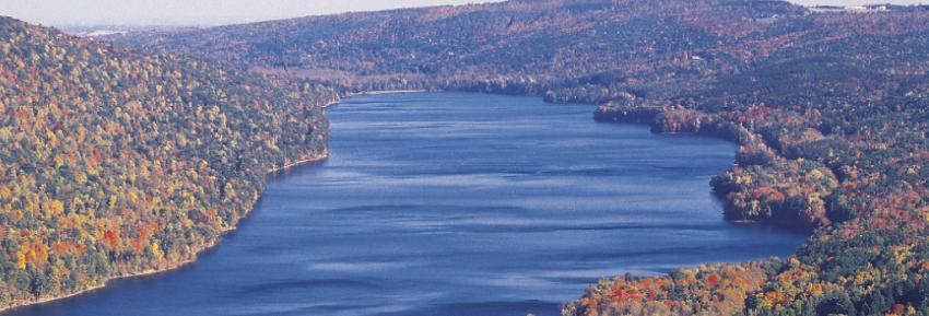 Canadice Lake as seen from the Hemlock-Canadice State Forest