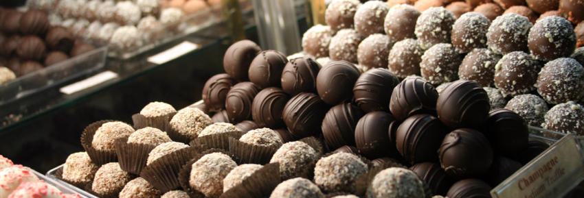 Closeup of Candy Truffles for sale at Sweet Expressions in Canandaigua