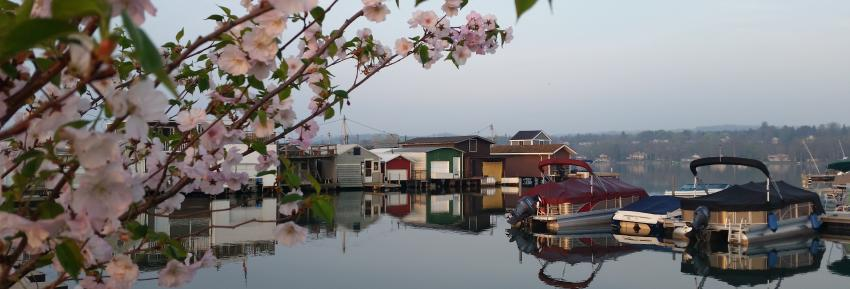 The Canandaigua City Pier during the spring time