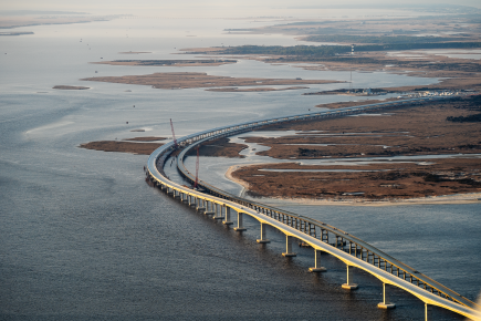 new bridge aerial