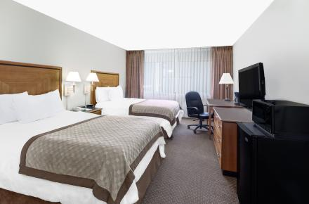 Standard Hotel Room with Two Double Beds