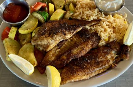 Blackened Catfish Plate