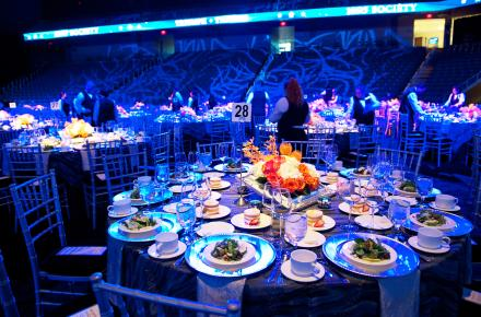 Banquet on the Arena Floor of College Park Center
