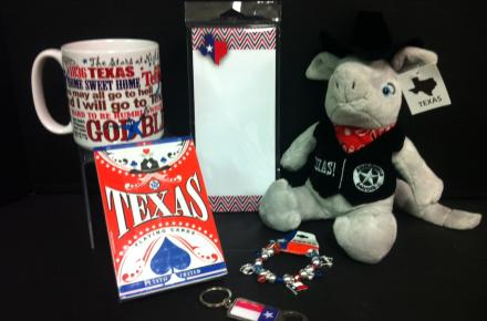 We carry a great selection of Texas themed gifts.