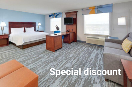 Hampton Inn South COVID Rate