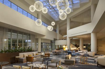 Hotel Lobby Evening