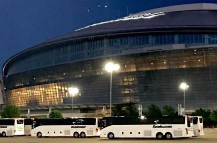 Roadrunners Charters at AT&T Stadium  - Multiple Buses