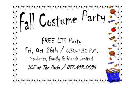 Fall costume party