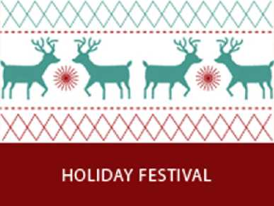 Reindeer design Holiday Festival image