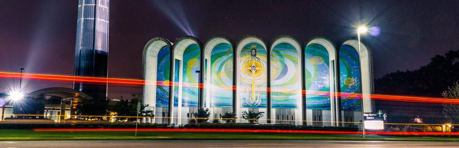 Eggbeater Jesus zoom backdrop