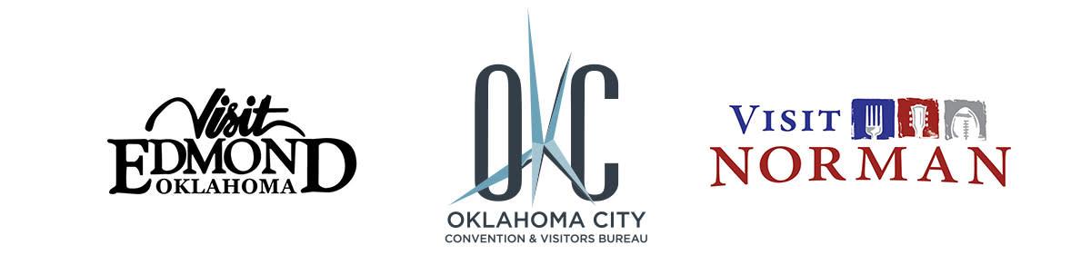 Logos for Edmond, Norman and Oklahoma City, OK, Convention & Visitors Bureau