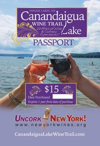 The cover for the Canandaigua Lake Wine Trail passport available for purchase