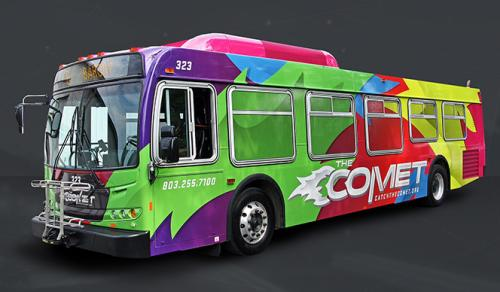 COMET Bus transportation in Columbia, South Carolina