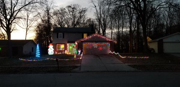 7715 Westford Court Christmas Light Display in Fort Wayne, Indiana