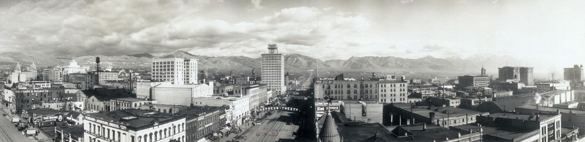 Downtown Salt Lake City circa 1913