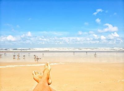 Daytona Beach Toes in the Sand