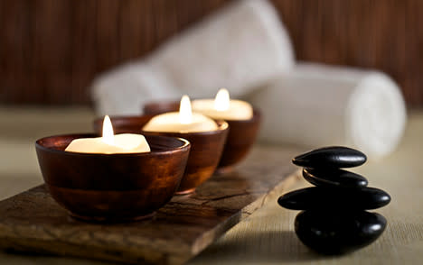 Spa Hot Rocks and Candles