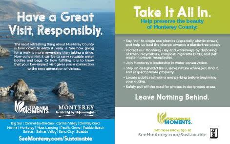 Have a Great Visit, Responsibly - Sustainable Moments Tent Card