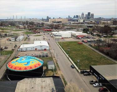 Jeffersonville Arts District aerial
