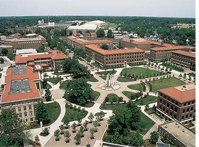 Purdue campus arial