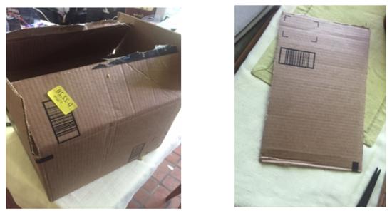 Cardboard Box and cutoff side flap
