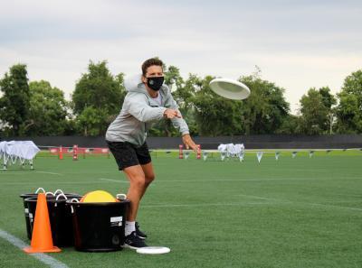 2020 Community Cup Columbus Crew SC Frisbee Toss