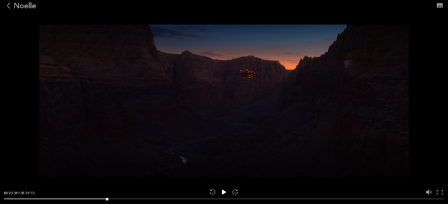 "Screenshot of ""Noelle"" at the Grand Canyon"