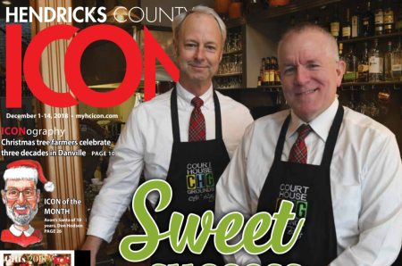Court House Grounds owners on the December 2018 Hendricks County ICON cover