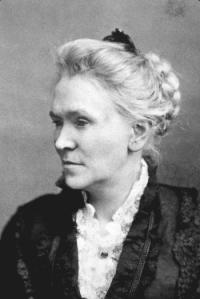 Matilda Joslyn Gage - Suffragette - black and white photo of Matilda
