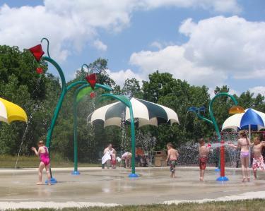 Splash Pad at Washington Township Park Avon