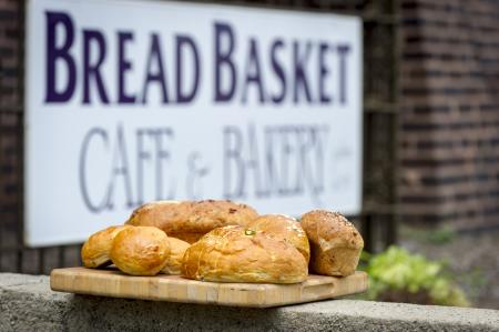 Bread Basket sign with bread