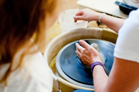 Pottery Class stock image