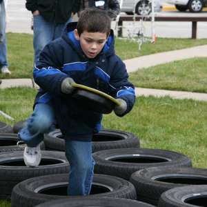 Oh Fuuudge! Tire Relay Race