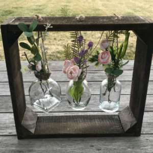 Country Rustic Vase Holder Class at Sweet Home Indiana!