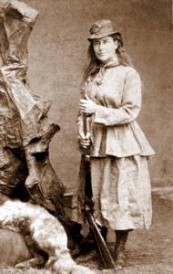 Black and white photo of Martha Maxwell