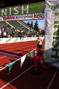 Finish the Eugene Marathon on historic Hayward Field (photo credit: Eugene Marathon via Facebook)