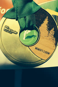 The nearly two pound medals feature real wood and a tree design (a nod to Oregon as a timber state)