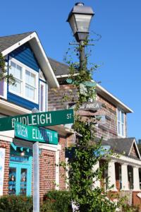 historic street sign name downtown manteo