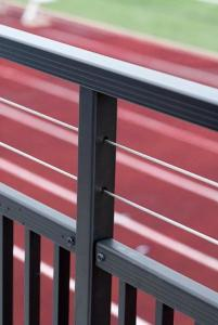 Custom railing system from Southern Bleacher Co.
