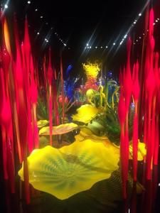 Inside Chihuly Garden and Glass in downtown Seattle