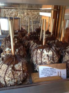 Chocolate dipped candied apples with nuts at Hazel Hill, Kansas